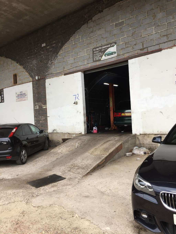 E 1 Auto Garage Car Repair 25 Cable St Whitechapel London E1